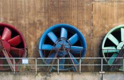Colorful ventilators Stock Image