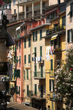 Colorful Vernazza Italy. A peaceful corner of the pretty village of Vernazza, one of the stunningly beautiful  Italian Cinque Terre villages and a UNESCO world Royalty Free Stock Photo