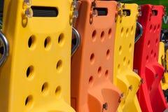 Colorful Vertical Aquatic Treadmill in Line, Designated for Swim Royalty Free Stock Photos