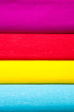 Colorful vertical background of crepe paper Royalty Free Stock Photography