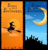 Colorful vertical banners with Halloween theme Stock Image