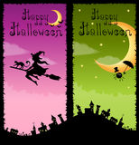 Colorful vertical banners with Halloween theme Stock Photos