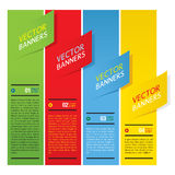 Colorful Vertical Banners. Colorful Vertical Banners Vector Stock Images