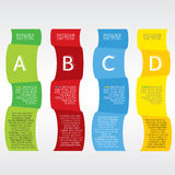 Colorful Vertical Banners. Stock Photo