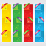 Colorful Vertical Banners. Royalty Free Stock Photos