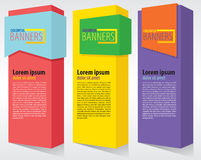 Colorful Vertical Banners. Stock Photography