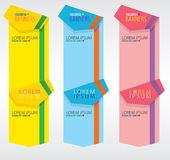 Colorful Vertical Banners. Royalty Free Stock Images