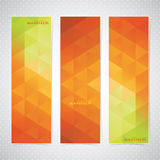 Colorful Vertical Set Of Banners Mosaic Stock Photography