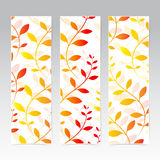 Colorful Vertical Set Of Floral Banners . Modern Royalty Free Stock Photo