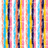 Colorful vertical stripes hand painted striped grunge seamless pattern, vector. Background Royalty Free Stock Image