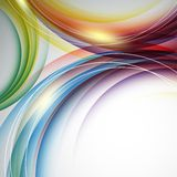 Colorful vertical vector template with swirls Stock Images