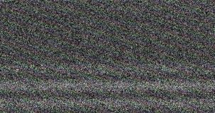 Colorful vhs glitch noise background realistic flickering, analog vintage TV signal with bad interference, static noise background. Overlay ready stock video