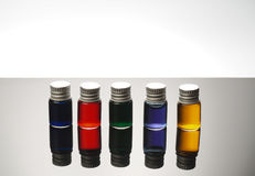 Colorful vials Stock Photo
