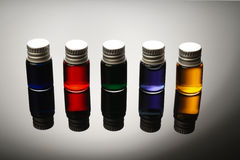 Colorful vials Stock Image