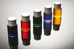Colorful vials Royalty Free Stock Photography