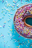 Colorful vibrant donut Stock Image