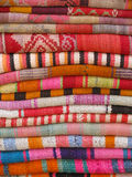 Colorful and vibrant fabrics Royalty Free Stock Photos