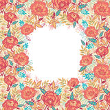 Colorful vibrant flowers frame border Royalty Free Stock Photography