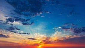 Colorful sunrise sky background. Colorful vibrant sunrise sky background royalty free stock photo