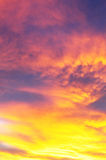 Colorful and vibrant sunset sky Royalty Free Stock Images