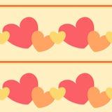 Colorful vibrant valentine heart seamless pattern background illustration Stock Image
