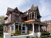 Colorful Victorian style house Royalty Free Stock Photo