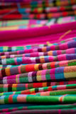 Colorful Vietnamese headscarf. A stack of colorful cloth Royalty Free Stock Photo