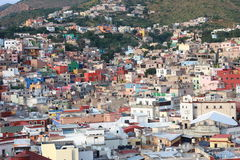 Colorful view of the city  Guanajuato, Mexico. Royalty Free Stock Photography