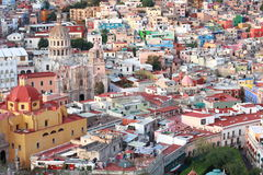 Colorful view of the city  Guanajuato, Mexico. Royalty Free Stock Images