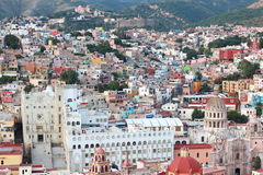 Colorful view of the city Guanajuato, Mexico. Stock Photo