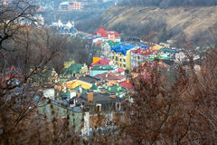 Colorful view of Kiev Stock Photo