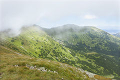 Colorful View on the summer Slovakia Mountains Low Tatras Royalty Free Stock Image