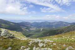 Colorful View on the summer Slovakia Mountains Low Tatras Royalty Free Stock Photos