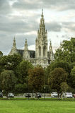 Colorful view of the town hall. In Vienna, Austria Royalty Free Stock Photography