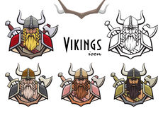 Colorful viking icon Royalty Free Stock Image