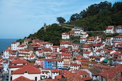 A colorful village in Asturias royalty free stock images
