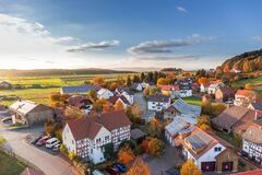 Colorful village in Autumn Royalty Free Stock Photography