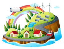 A colorful village Royalty Free Stock Images