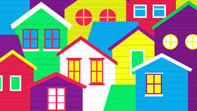 Colorful village Royalty Free Stock Image