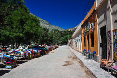 Colorful village and market of Purmamarca, Argentina Royalty Free Stock Photo