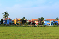 Colorful Villas on rent at Benaulim Goa india Royalty Free Stock Images