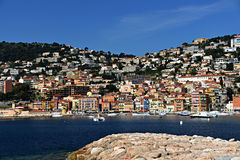 Colorful Villefranche-sur-Mer Stock Photography
