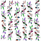 Colorful vines illustration Stock Photos