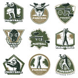 Colorful Vintage Active Leisure Emblems Set Royalty Free Stock Photos