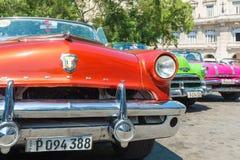 Colorful vintage american car in Havana Royalty Free Stock Image