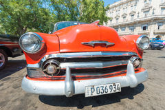 Colorful vintage american car in Havana Stock Photography
