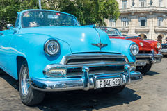 Colorful vintage american car in Havana Royalty Free Stock Images