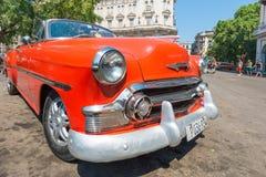 Colorful vintage american car in Havana Royalty Free Stock Photos