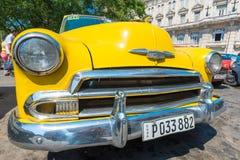 Colorful vintage american car in Havana Stock Photo