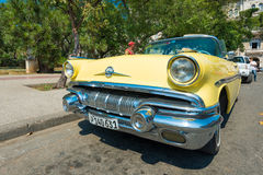 Colorful vintage american car in Havana Royalty Free Stock Photo